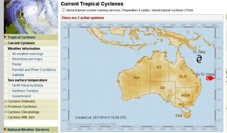 BOM Current tropical cyclone page sample